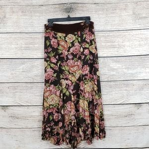 Cabi | Floral Long Skirt Womens XS